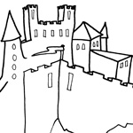 coloriage chateau fort